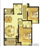 优山美地名邸2室2厅1卫92平方米户型图