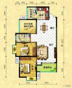中央新城2室2厅1卫99平方米户型图
