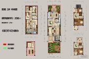 恒佳太阳城6室3厅4卫206平方米户型图