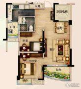 碧桂园城市花园2室2厅1卫77--82平方米户型图