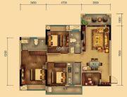 汇乔金色名都4室2厅2卫106平方米户型图