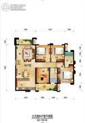 旷远・洋湖18克拉3室2厅2卫0平方米户型图
