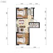 万锦・紫园2室2厅1卫65平方米户型图