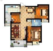 丽景湾华庭3室2厅1卫102平方米户型图