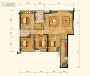 永立星城都4室2厅2卫138平方米户型图