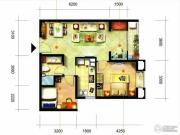 凯隆橙仕公馆2室1厅1卫68平方米户型图