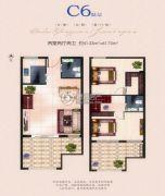 海上明月城2室2厅2卫51--61平方米户型图