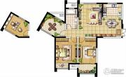 绿洲天逸城3室2厅1卫113平方米户型图