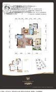 金悦澜湾&江南铜锣湾(商业)3室2厅2卫100平方米户型图
