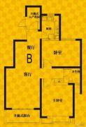 恒生・光合城2室2厅1卫91平方米户型图