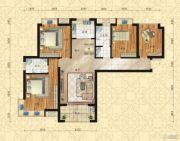 东方今典中央城4室2厅2卫134平方米户型图