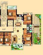 鸿泰华府4室2厅2卫153平方米户型图