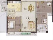 东湖映月3室2厅1卫0平方米户型图