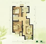 中国铁建・国际花园2室2厅1卫75平方米户型图