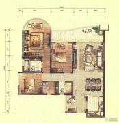 合生紫��府4室2厅2卫145平方米户型图
