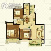 恒大山水城3室2厅1卫110平方米户型图