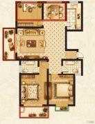 梦溪嘉苑NO.53室2厅2卫123平方米户型图