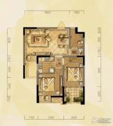 禹洲天境2室2厅1卫69平方米户型图