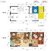新时代广场4室2厅3卫132平方米户型图