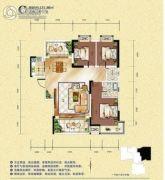 旺佳・华府3室2厅2卫131平方米户型图
