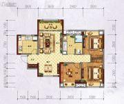 万科城・城果3室2厅1卫95平方米户型图