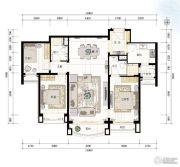 青岛星河湾3室2厅0卫135平方米户型图