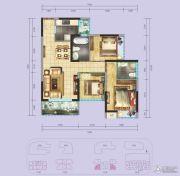 国际康城3室2厅2卫85平方米户型图