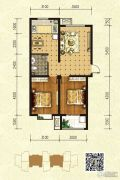 印象青城2室2厅1卫97平方米户型图