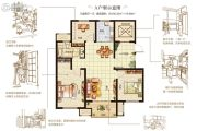 嘉洲灏庭3室2厅1卫105--110平方米户型图