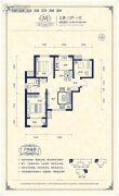 阳光揽胜3室2厅1卫94--96平方米户型图