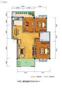 百江御城・龙脉3室2厅1卫106平方米户型图