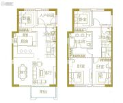 保利・中航玺樾4室2厅3卫144平方米户型图