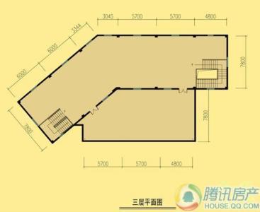 南湖休闲美食广场b-16户型三层平面图