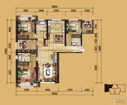实力壹方城4室2厅3卫133平方米户型图