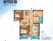 绿地香树花城3室2厅1卫95平方米户型图