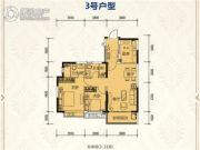 恒大绿洲2室2厅2卫97平方米户型图