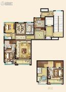 碧桂园德信・江山一品4室2厅3卫165平方米户型图