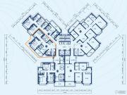 恒大御景半岛2室2厅1卫84平方米户型图