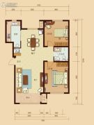 东城人家2室2厅1卫108平方米户型图