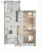 广州龙湖・双珑原著3室2厅2卫98平方米户型图