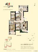 海晟闽江印象4室2厅2卫140平方米户型图