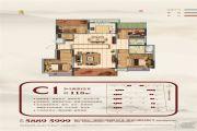 江山荟4室2厅2卫118平方米户型图