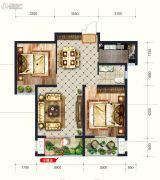 润德天悦城2室2厅1卫96平方米户型图