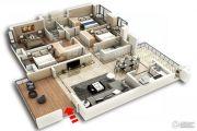 裕和天地4室2厅3卫179平方米户型图
