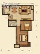 中鸿基名都2室1厅1卫78平方米户型图
