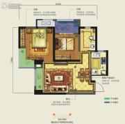 龙湖香醍�Z宸2室2厅2卫67平方米户型图