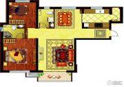 哈西万达广场3室2厅2卫108平方米户型图