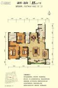 融创迩海4室2厅2卫174平方米户型图
