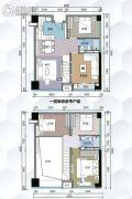 G1蜂汇5室2厅2卫90平方米户型图