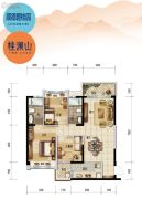 顺德碧桂园3室2厅2卫108平方米户型图